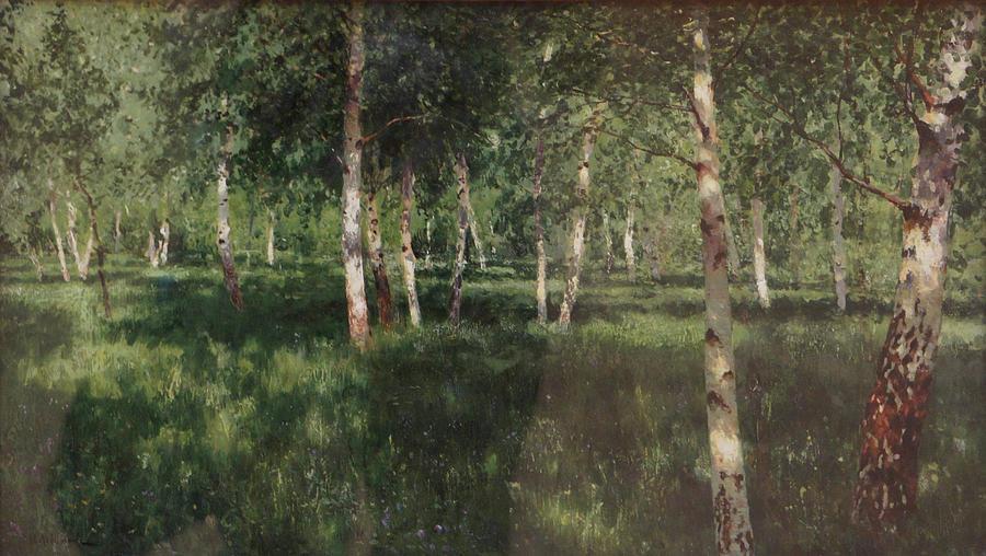 Isaac Levitan Painting - Birch Grove by Isaac Levitan