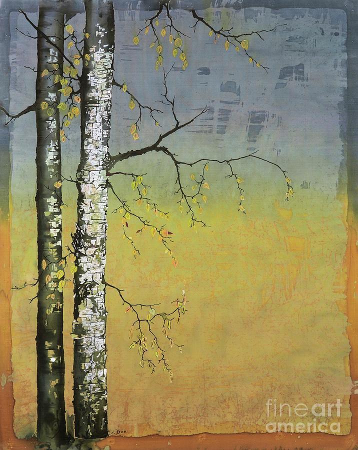 Birch in a Golden Field by Carolyn Doe