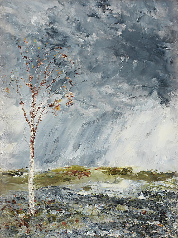 Birch In Autumn by August Strindberg 1902 by August Strindberg