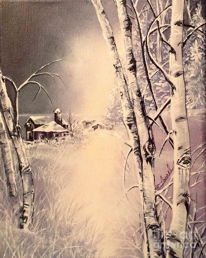 Landscape Painting - Birch in New England by Laurel Adams