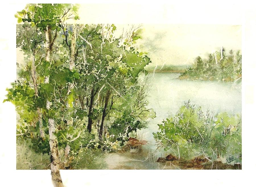 Birch Lake 1 by Pamela Lee