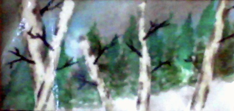 Birch Painting - Birch Tree by Caleb Snodgrass