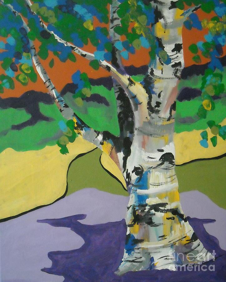 Tree Painting - Birch Tree by Caroline Davis