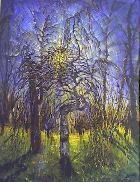 Birch Tree Painting by Julia Scorupsky