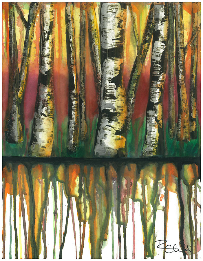 Birch Painting - Birch Trees #6 by Rebecca Childs