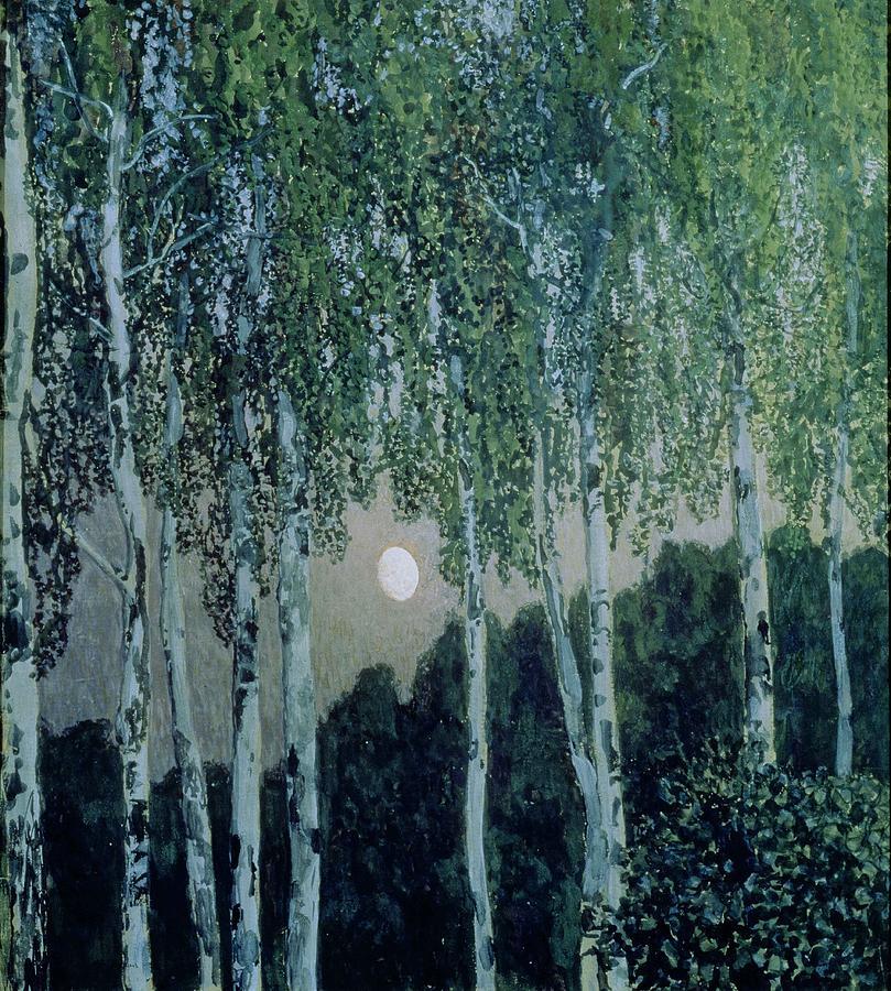 Birch Painting - Birch Trees by Aleksandr Jakovlevic Golovin