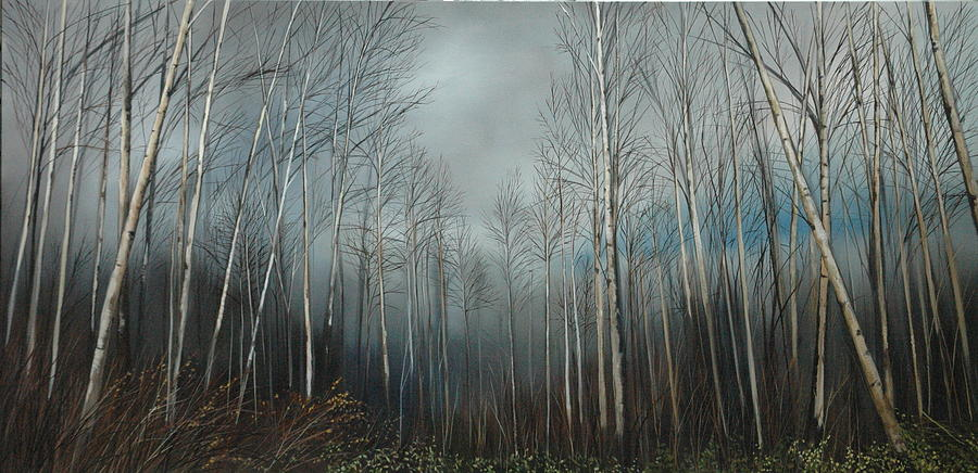 Birch Trees Painting - Birch Trees by Richard Cole