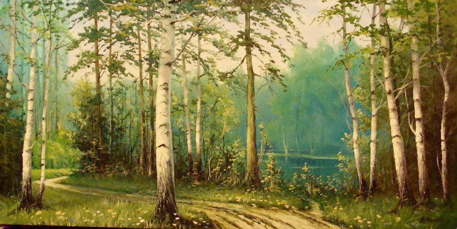 Birch Wood Painting - Birch Wood by Alexander Fomin