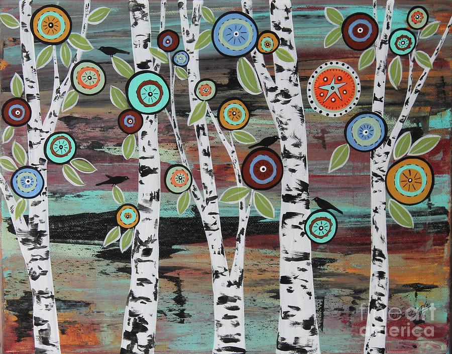 Landscape Painting - Birch Woods by Karla Gerard