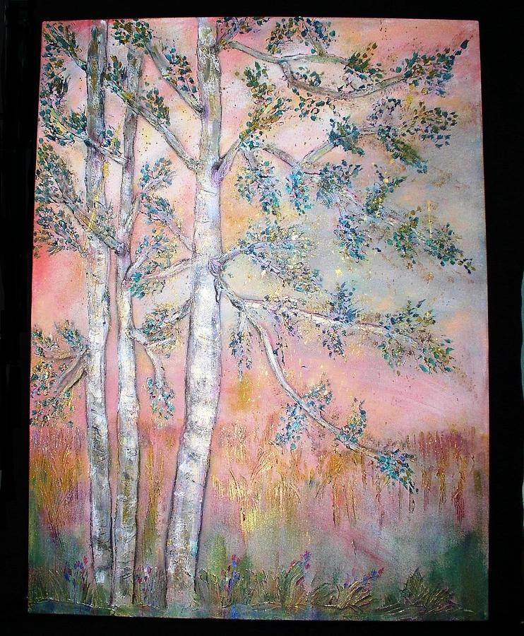 Birch Painting - Birch Woods Sold by Laurie Alpert