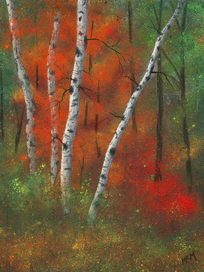 Birches Painting - Birches II by Garry McMichael