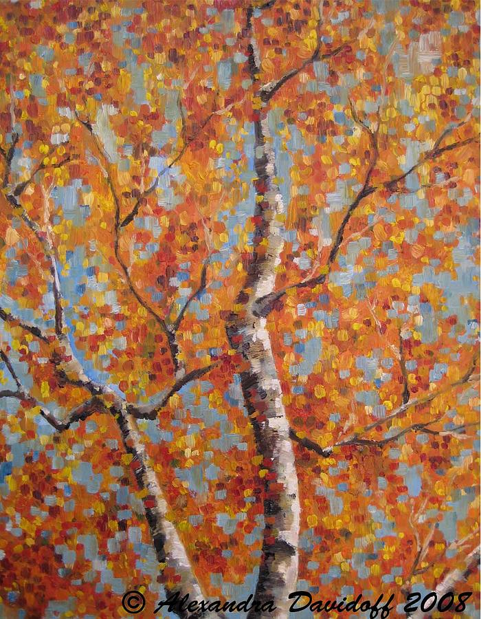 Birches Painting - Birches IIi by Alexanda Davidoff