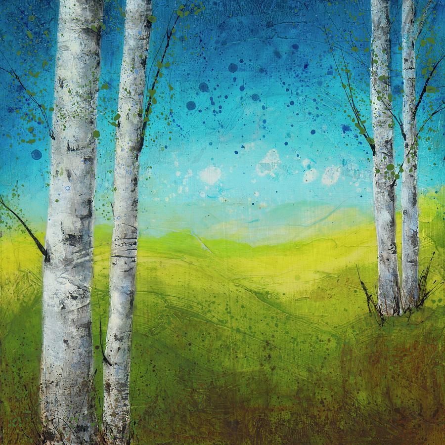 Birches In Green by Brenda O'Quin