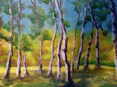 Birches Painting by Patricia Halstead