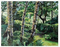 Landscape Painting - Birches by Paul Birchall