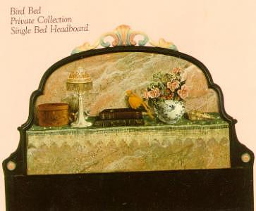 Headboard Mixed Media - Bird Bed by Lauren Cole Abrams