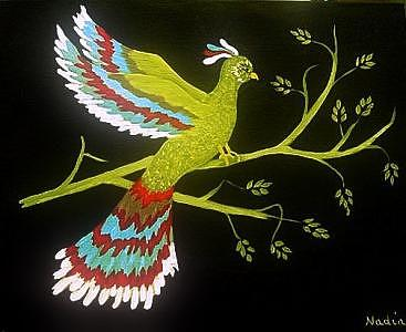 Bird Exotica Painting by Nadine  Estes