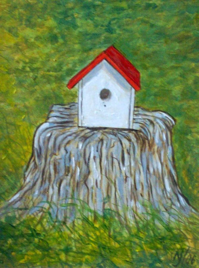 Birdhouse Painting - Bird House by Norman F Jackson