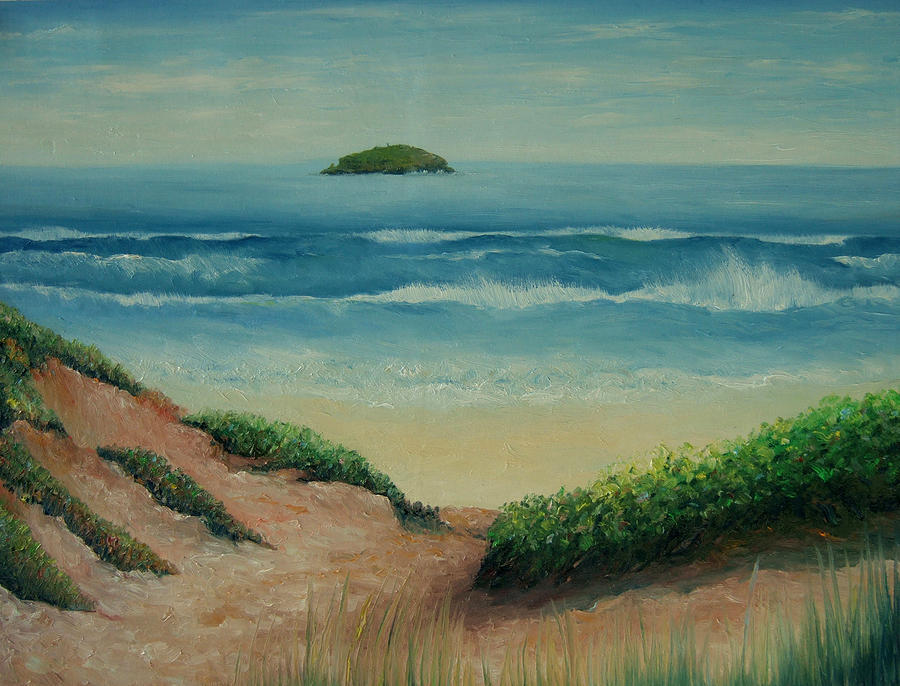 Landscape Painting - Bird Island 07 by David Pavich