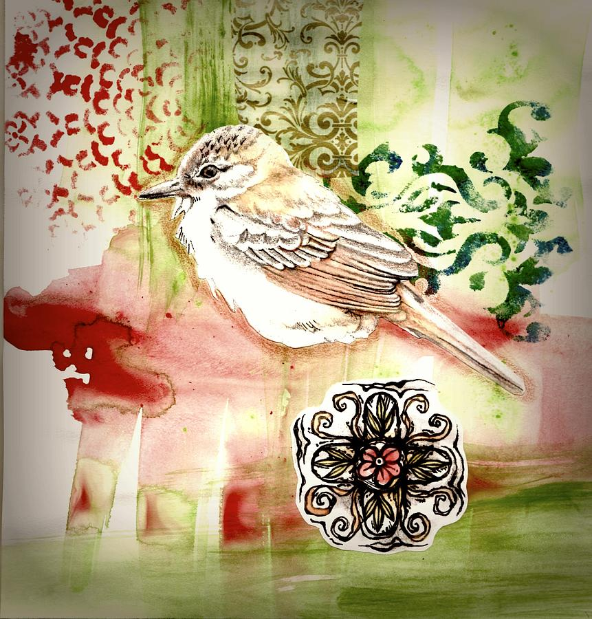 Bird Mixed Media - Bird Love by Rose Legge