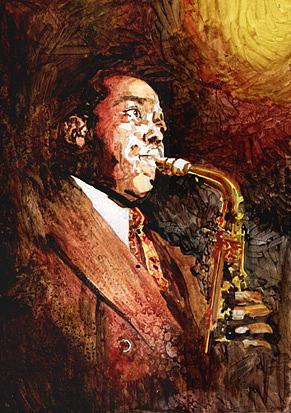 Jazz Painting - Bird by Marcelo Neira