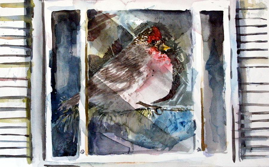 Bird Painting - Bird by Mindy Newman