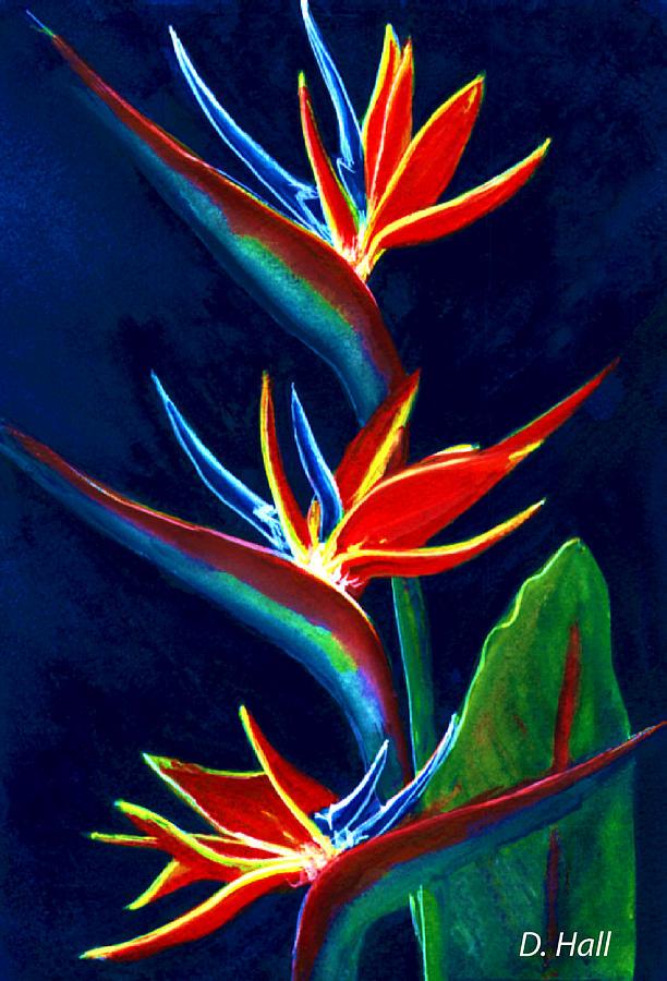 Bird Of Paradise Painting - Bird Of Paradise #161 by Donald k Hall