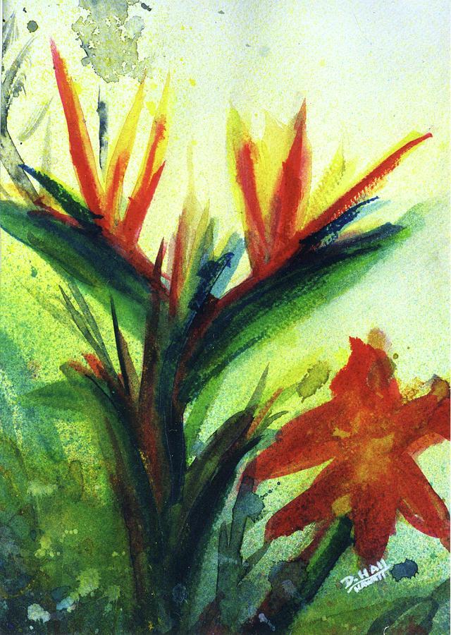 Bird Of Paradise Painting - Bird Of Paradise, #177 by Donald k Hall