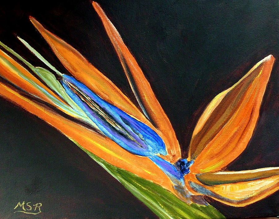 Bird Of Paradise Painting - Bird Of Paradise 2 by Maria Soto Robbins