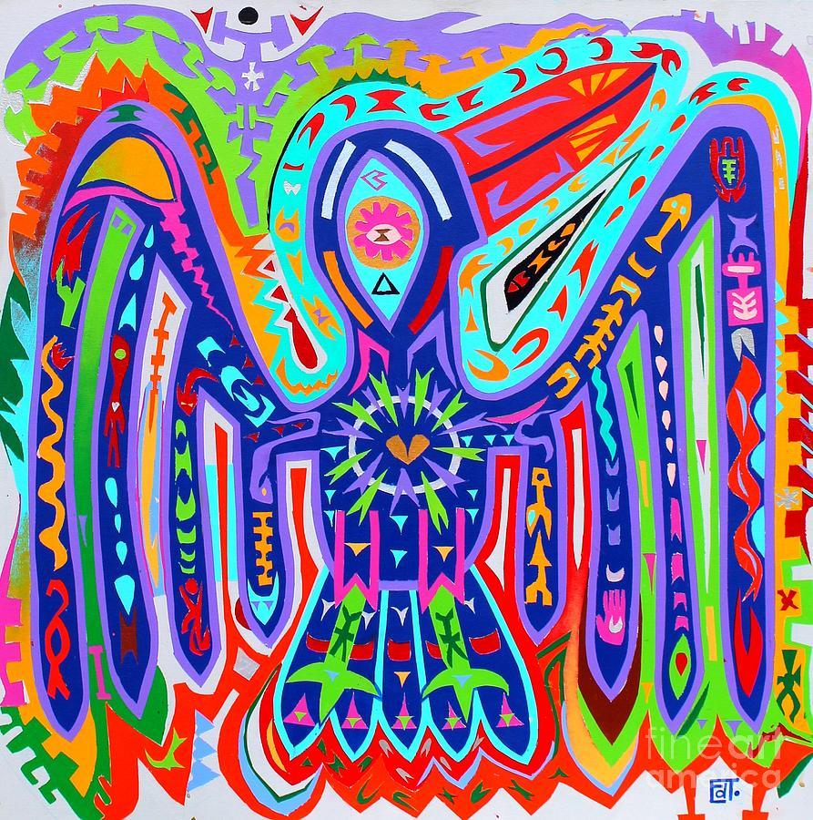 Bright Painting - Bird Of Paradise by Ed Tajchman