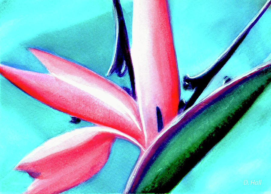 Bird Of Paradise Painting - Bird Of Paradise Flower #290 by Donald k Hall