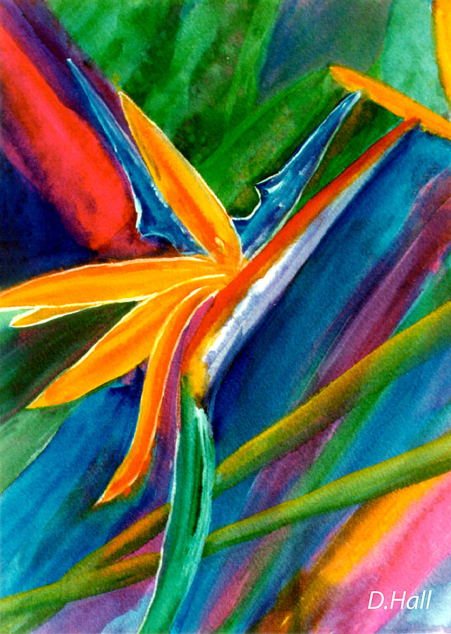 Bird Of Paradise Painting - Bird Of Paradise Flower #66 by Donald k Hall