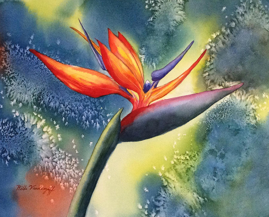 Bird of Paradise Flower by Hilda Vandergriff