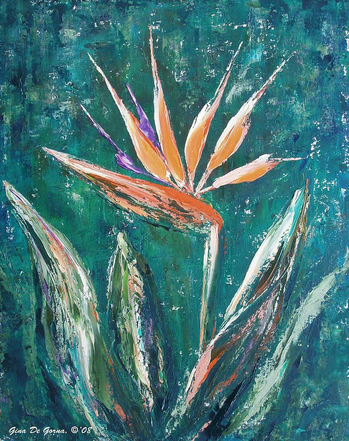 Bird Of Paradise Painting - Bird Of Paradise by Gina De Gorna