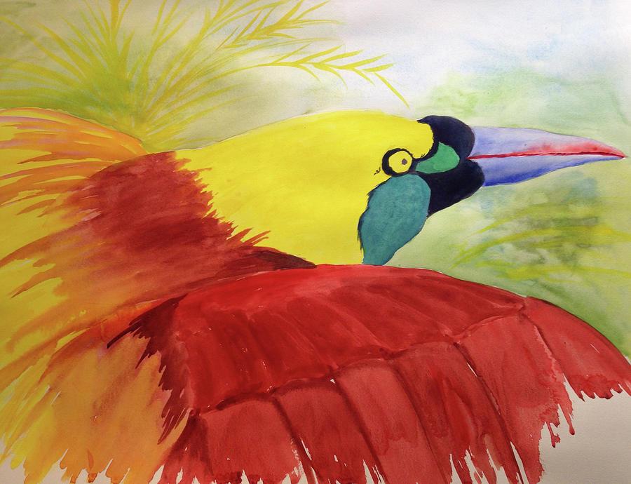 Bird of Paradise Painting by Mary Blumberg