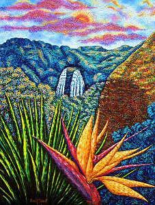 Hawaii Painting - Bird Of Paradise by Max R Scharf