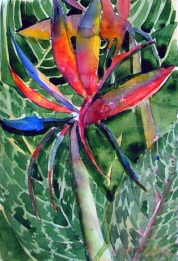 Floral Painting - Bird Of Paradise by Mindy Newman