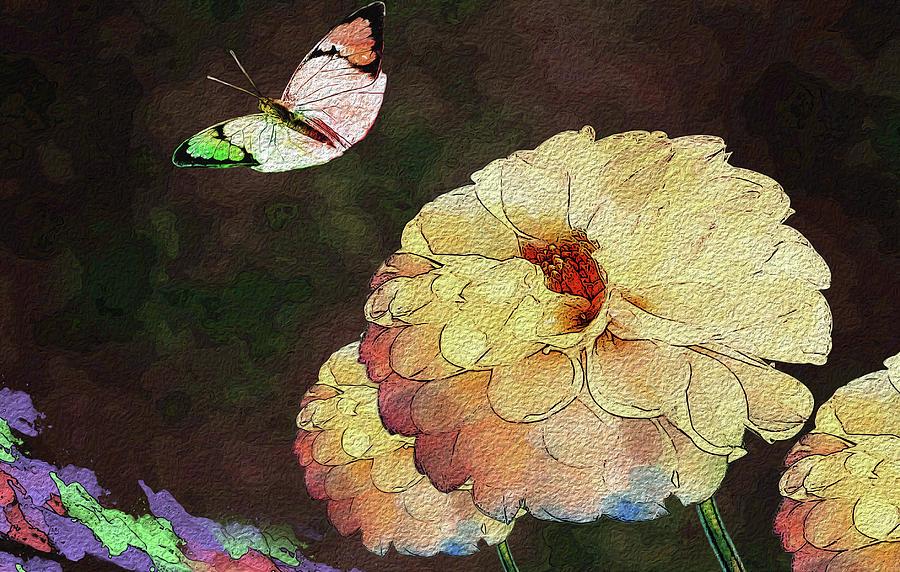 Butterfly Digital Art - Flower Knows, When Its Butterfly Will Return by Manjot Singh Sachdeva