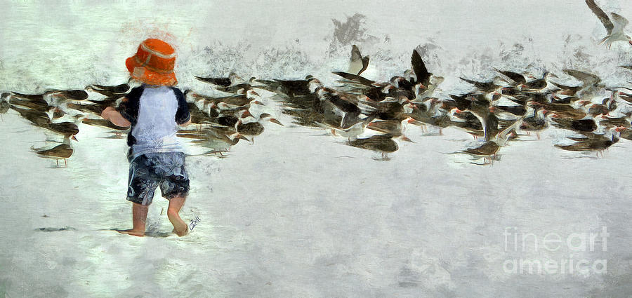 Terns Photograph - Bird Play by Claire Bull