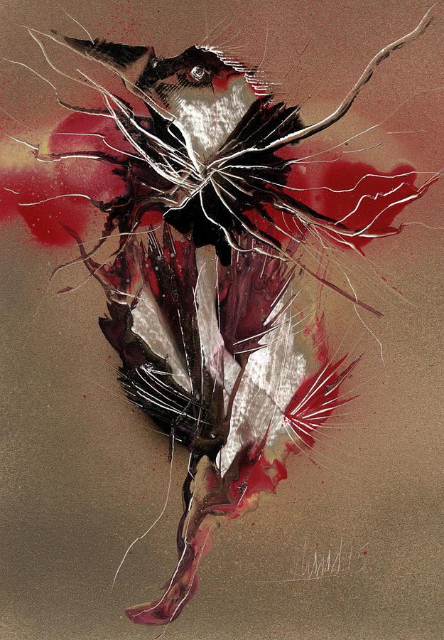 Bird Painting - Bird Reflect Defect by Jason Girard