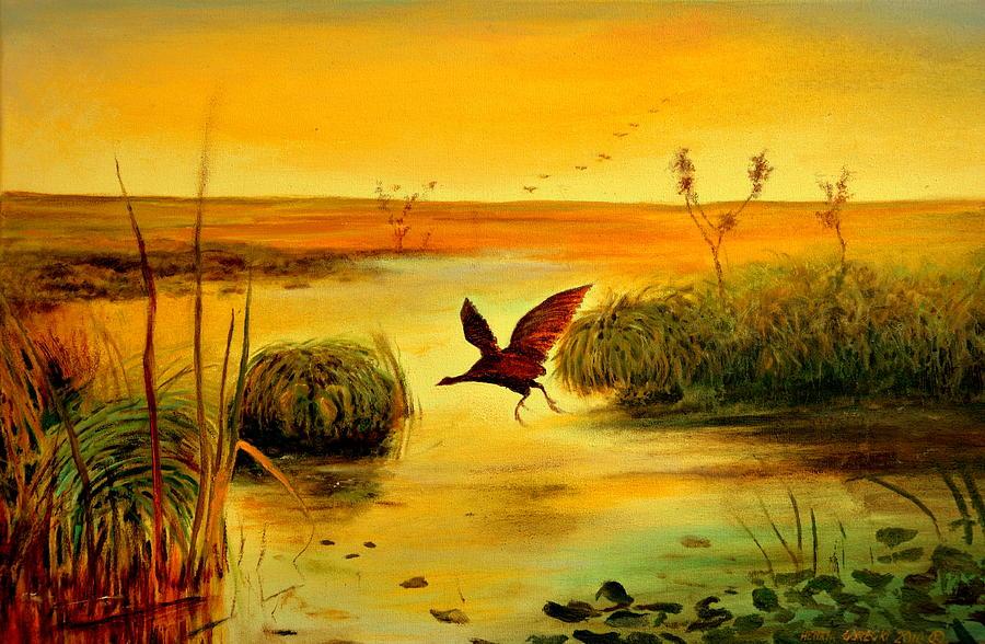 Gorecki Painting - Bird Water by Henryk Gorecki