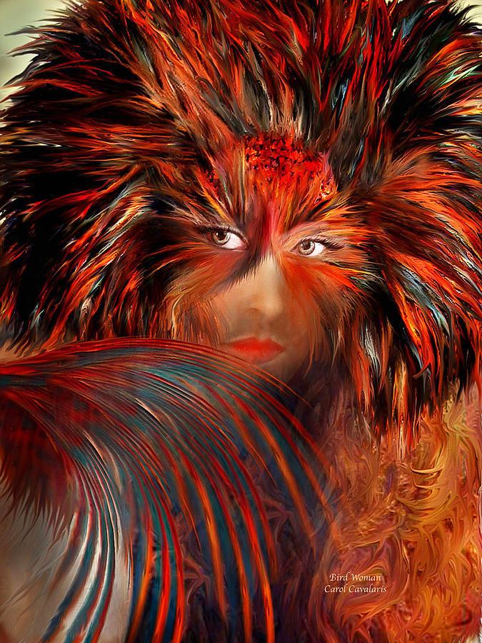 Fantasy Mixed Media - Bird Woman by Carol Cavalaris