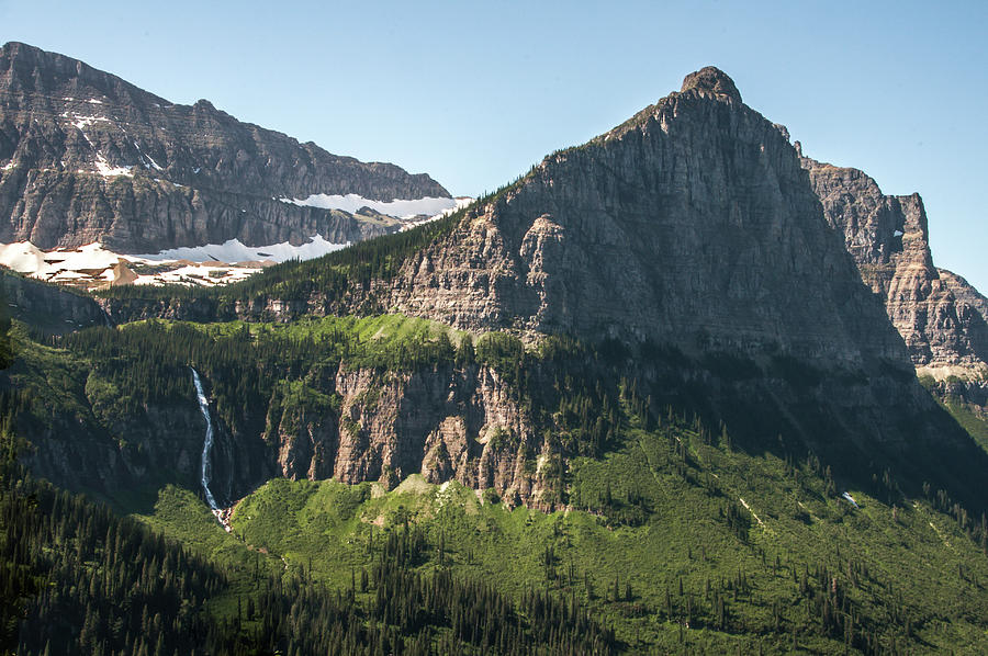 Bird Woman Falls and Mount Cannon Glacier National Park by NaturesPix