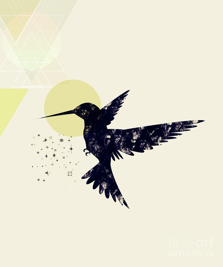 Hummingbird Digital Art - Bird X by Amir Faysal