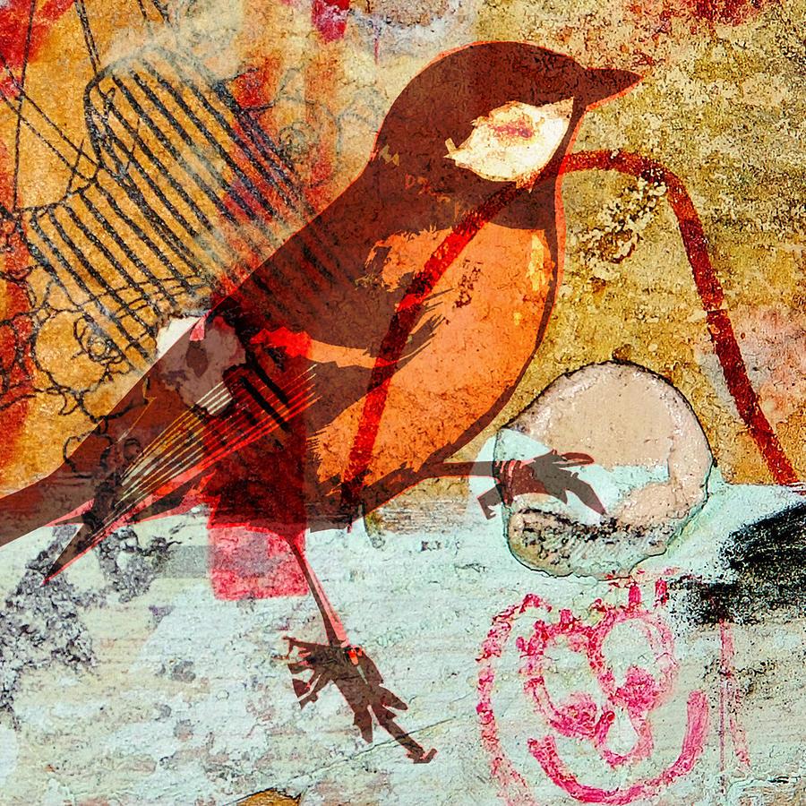 Bird Digital Art - Bird5 by Marti Wedewer