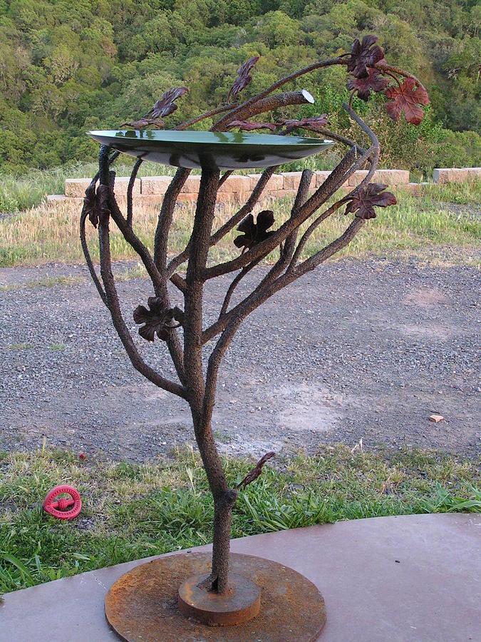 Landscape Sculpture - Birdbath 1 by John Jones