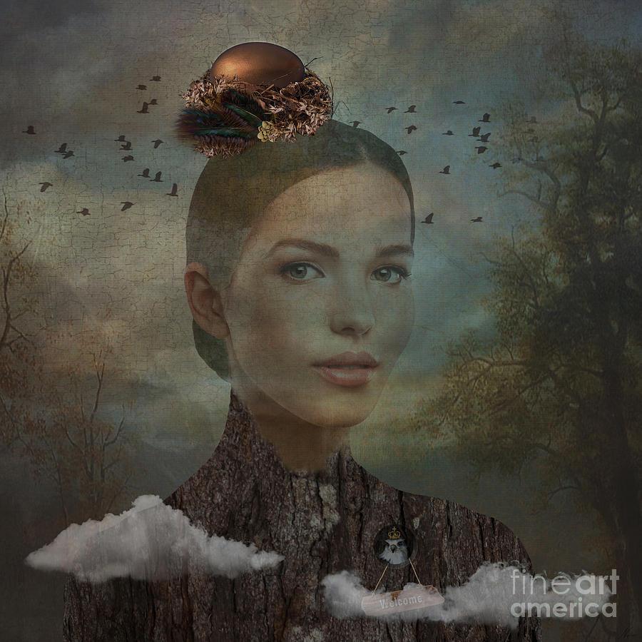 Birder Digital Art - Birder by Nola Lee Kelsey