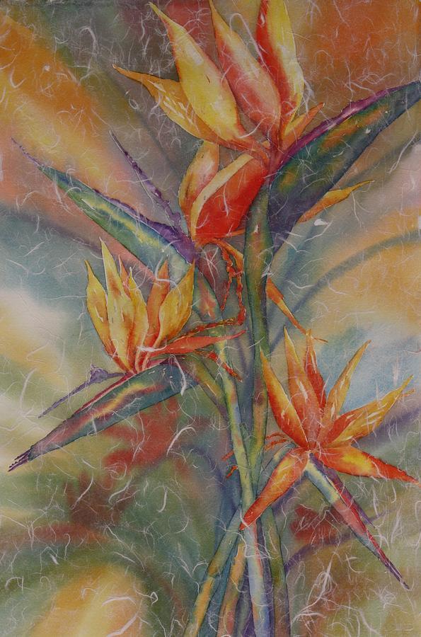 Bird Of Paradise Painting - Birdies by Tara Moorman