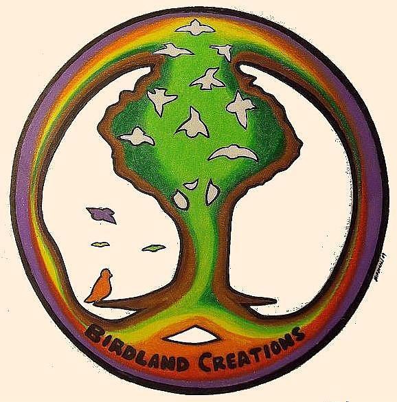 Birdman Drawing - Birdland Creations Logo by Steve Weber
