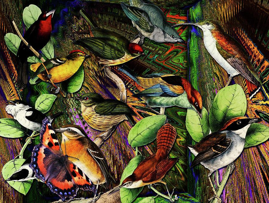 Climate Change Digital Art - Birdland by Joseph Mosley